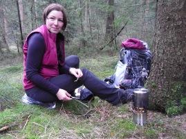 Kochtest im Wald