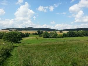 Offene Landschaft auf der Extratour vor der Altenburg