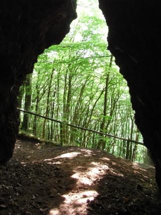 Blick aus einer der Höhlen