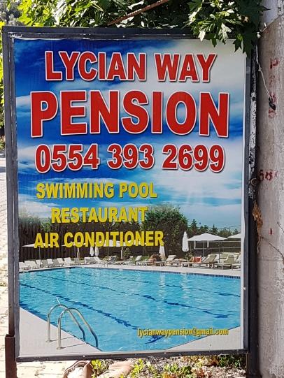 Der lykische Weg ist bekannt genug, um Pensionen danach zu benennen