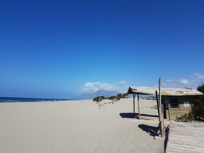 Beginn des langen Sandstrands von Patara
