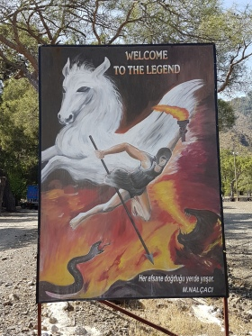 Bellerophon mit seinem Pegasus