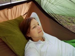 Im neuen Lieblingsschlafplatz draußen