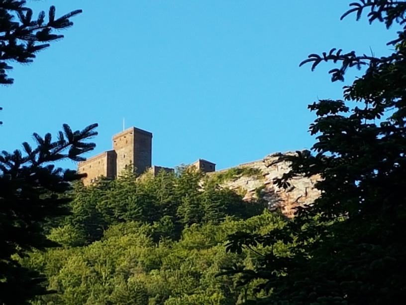 Blick auf Burg Trifels vom Zimmer aus