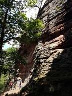 Kletterfelsen aus Buntsandsteein