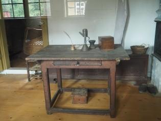Schreibplatz vor mindestens 150 Jahren