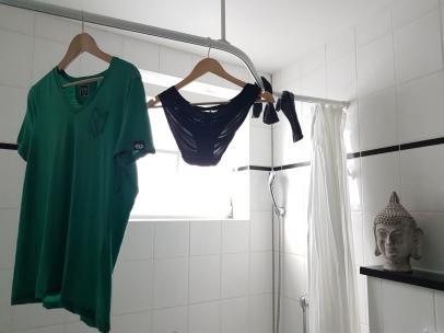 Trockenplatz für das, was unbedingt gewaschen werden muss